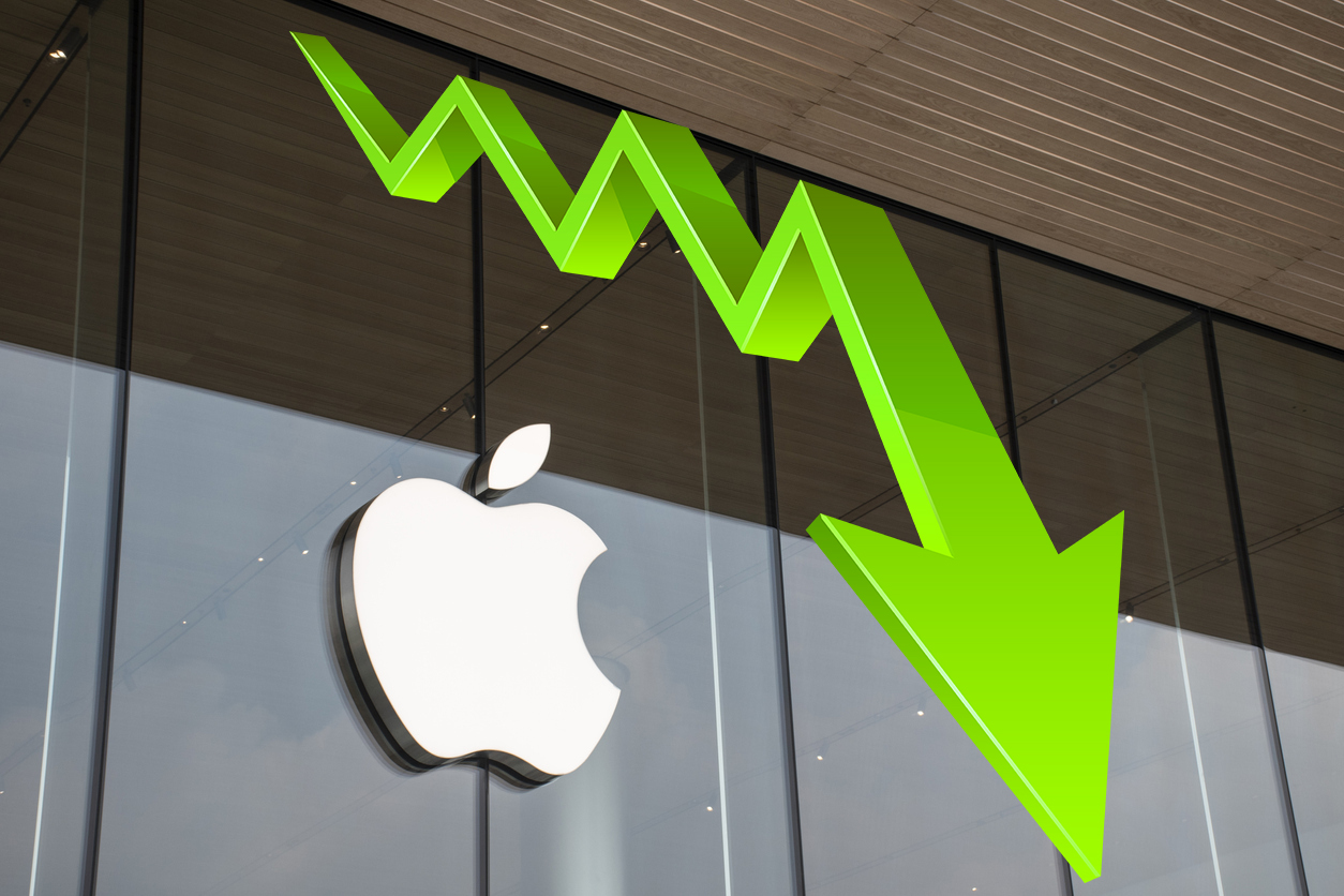 После презентации Apple акции компании упали
